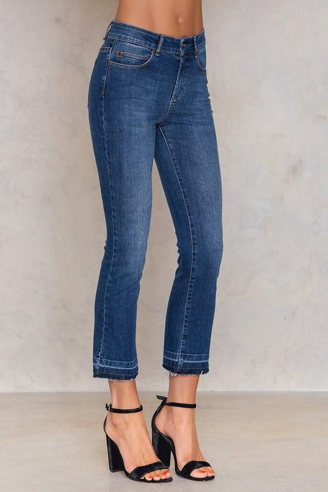 Johanna Kick Flare Jeans Denim Blue