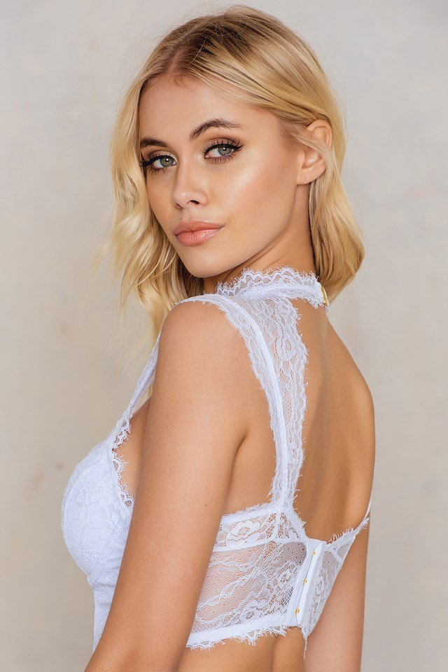 Open Back Corsage Top White