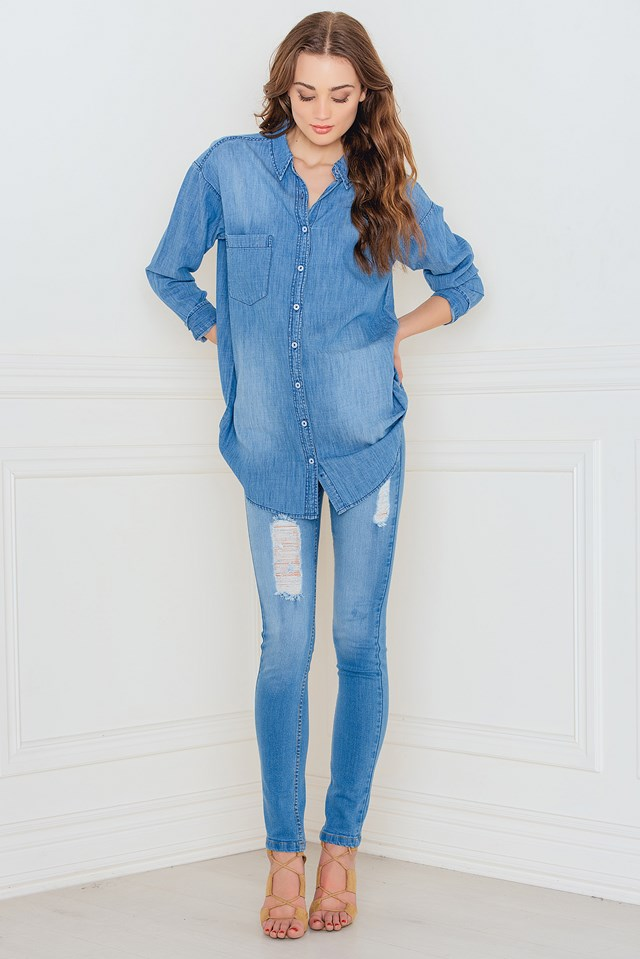Josie denim shirt LT Wash