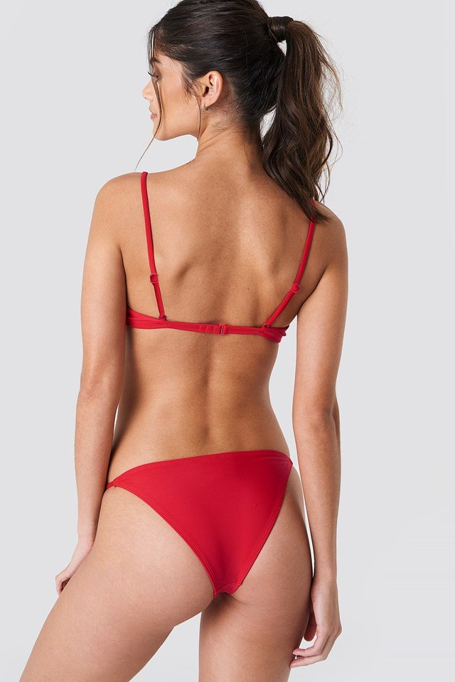 Circle Detai Bikini Panty Red