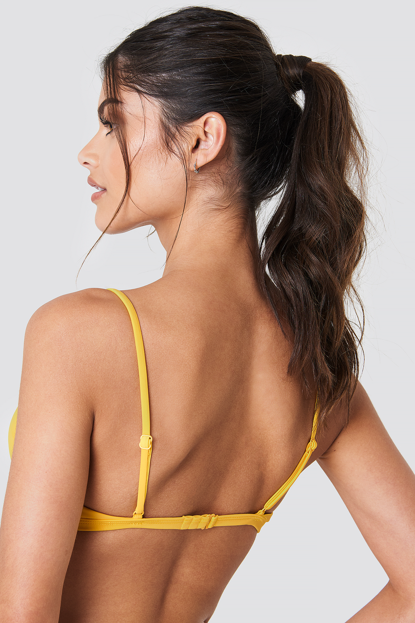 Yellow Circle Detail Bikini Top