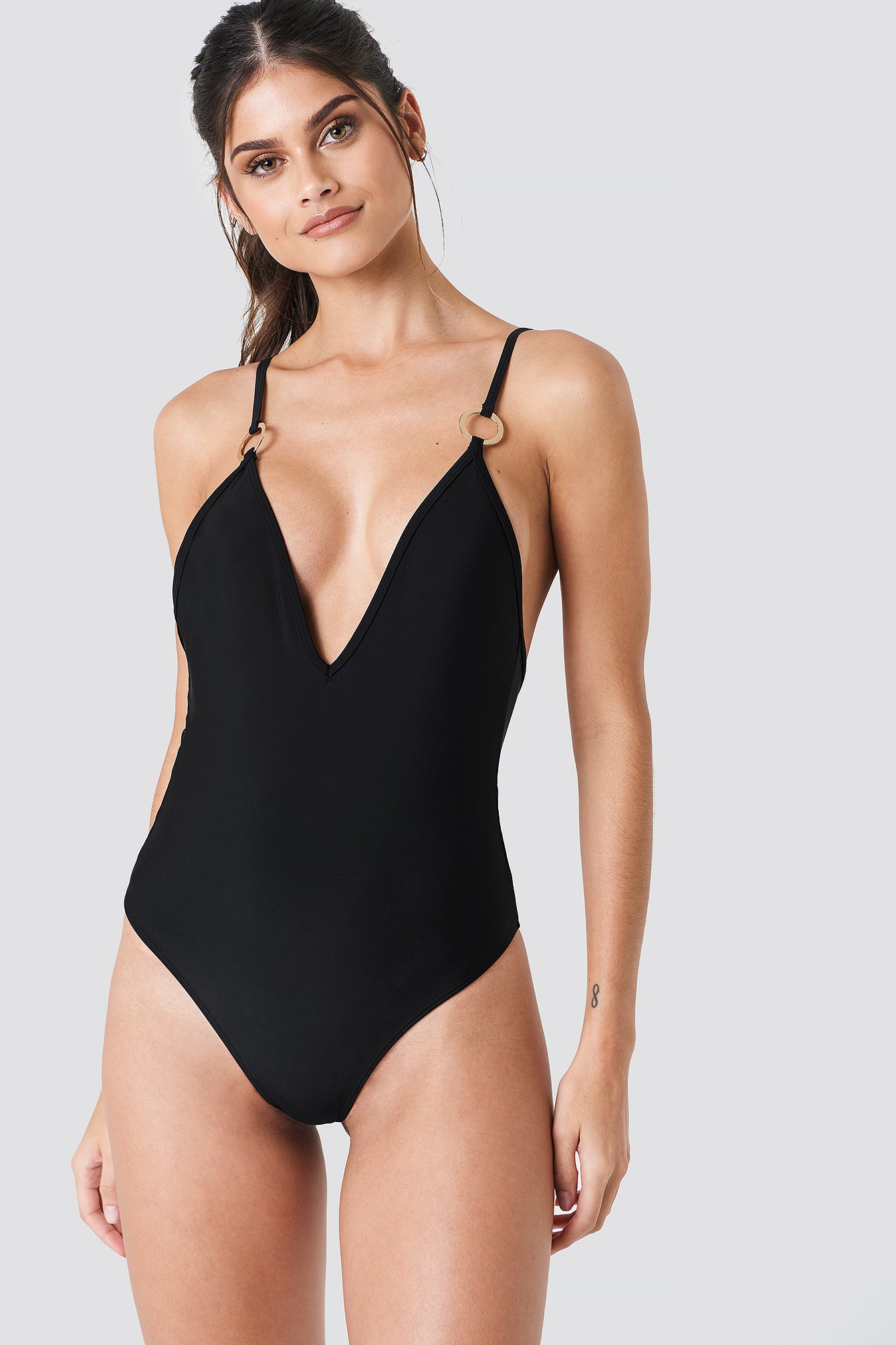 Deep Neck Swimsuit NA-KD.COM