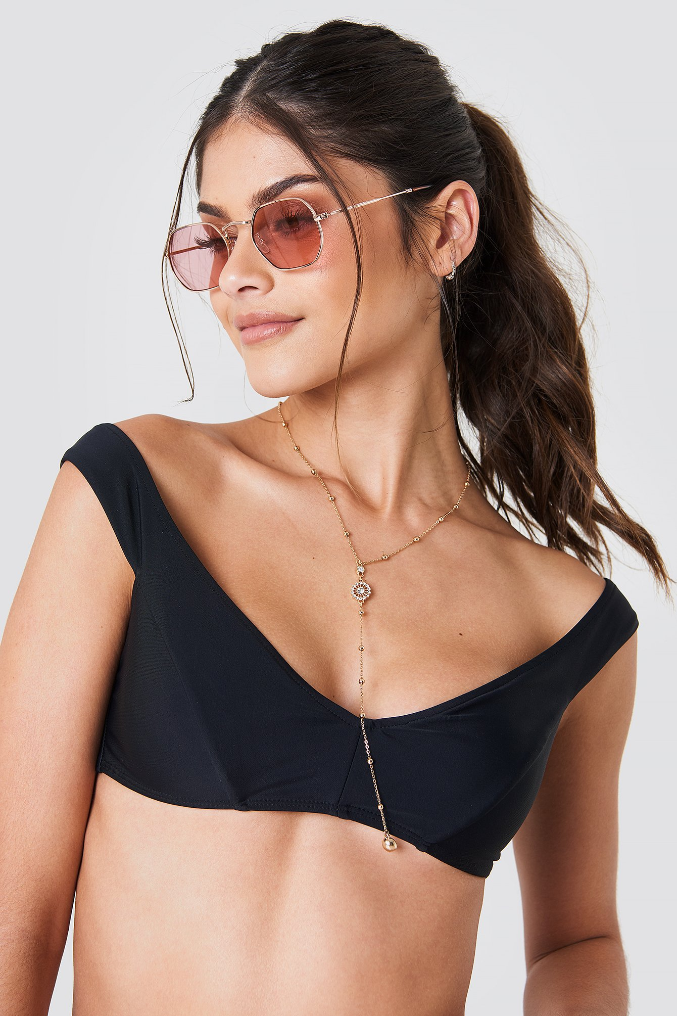 Drop Shoulder Bikini Top NA-KD.COM
