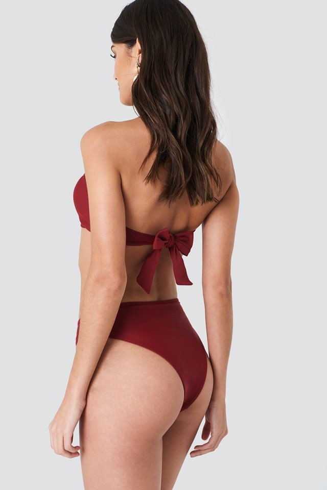 High Waist Bikini Panty Burgundy