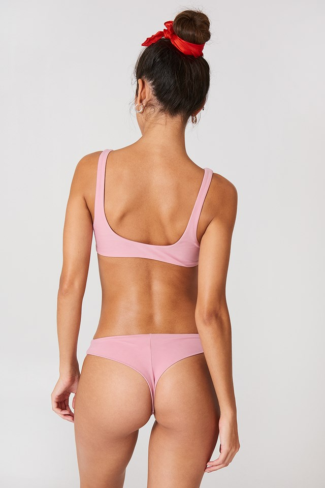 Knot Front Bikini Top Dusty Pink