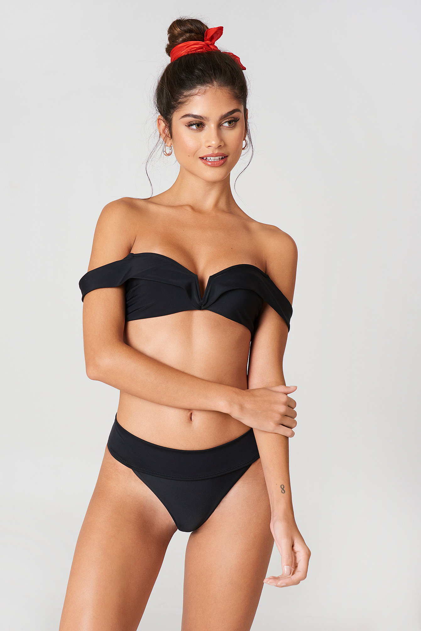 Bandeau bikini swimsuit