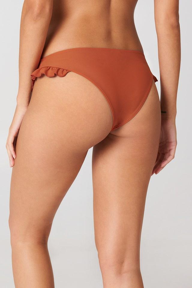 Frill Bikini Briefs Rust