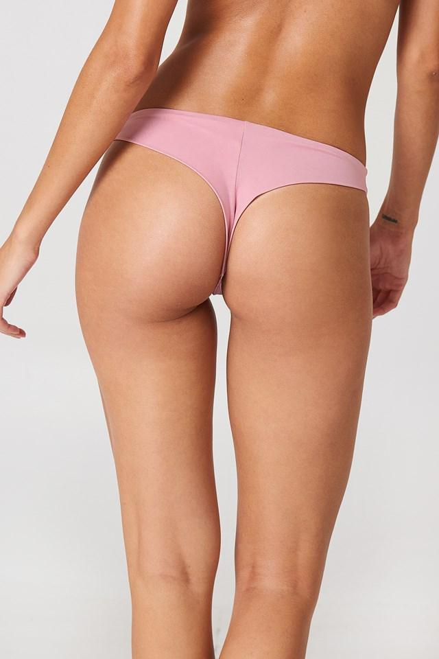 Plain Bikini Briefs Dusty Pink