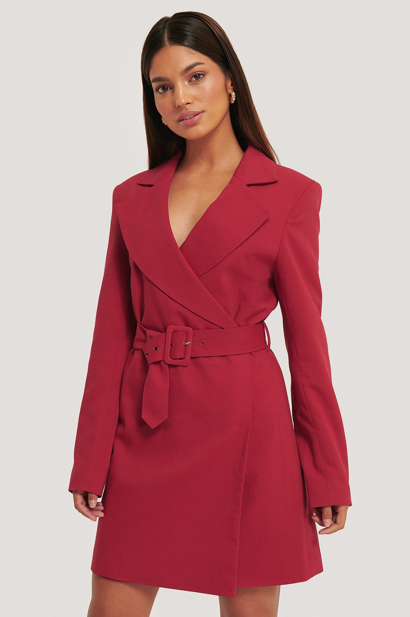 Redwood Power Shoulder Blazer Dress