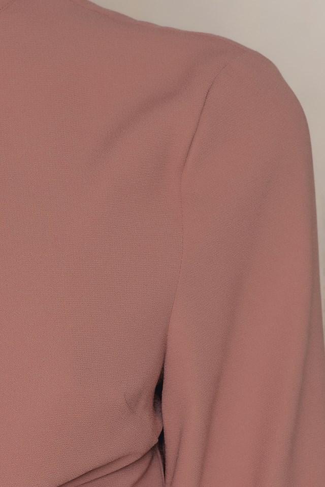 Front Knot Choker Top Dusty Dark Pink