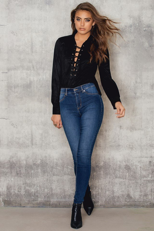 Suede Lacing Shirt Black