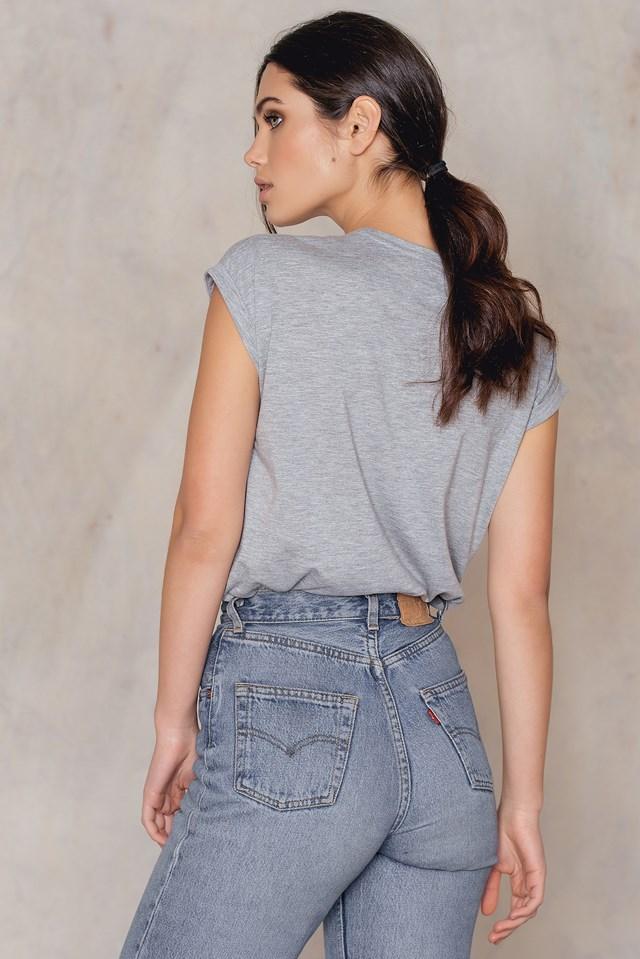 GRL PWR T-shirt Grey Mel