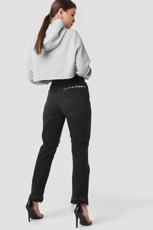 """Chance"" High Waist Straight Jeans Josefine Simone x NA-KD"