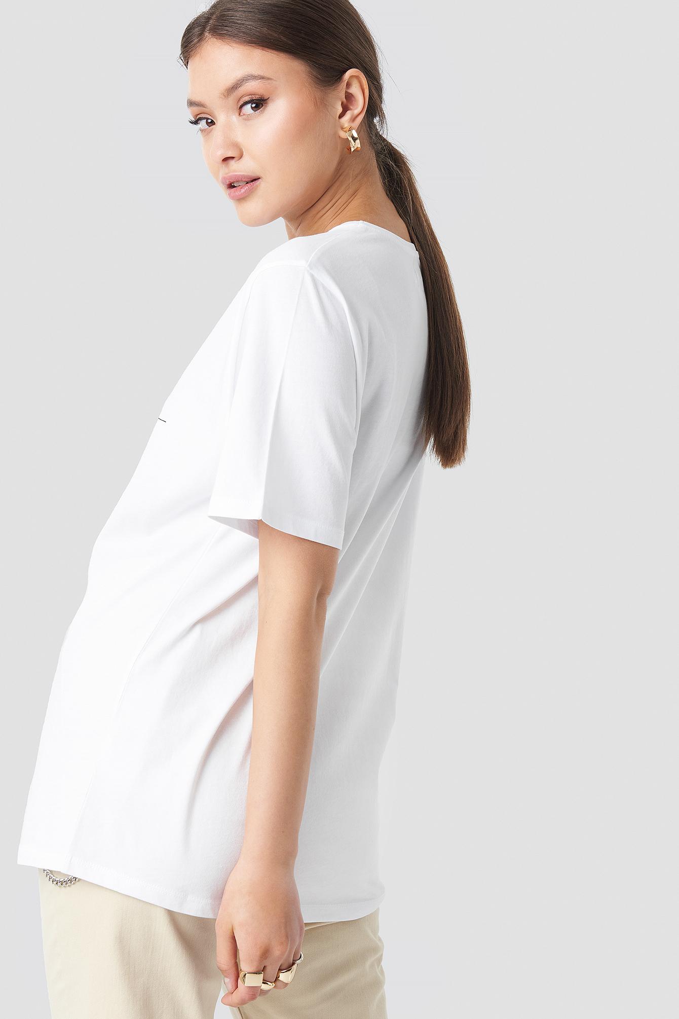 """Let's Get Away"" Oversized Tshirt NA-KD.COM"