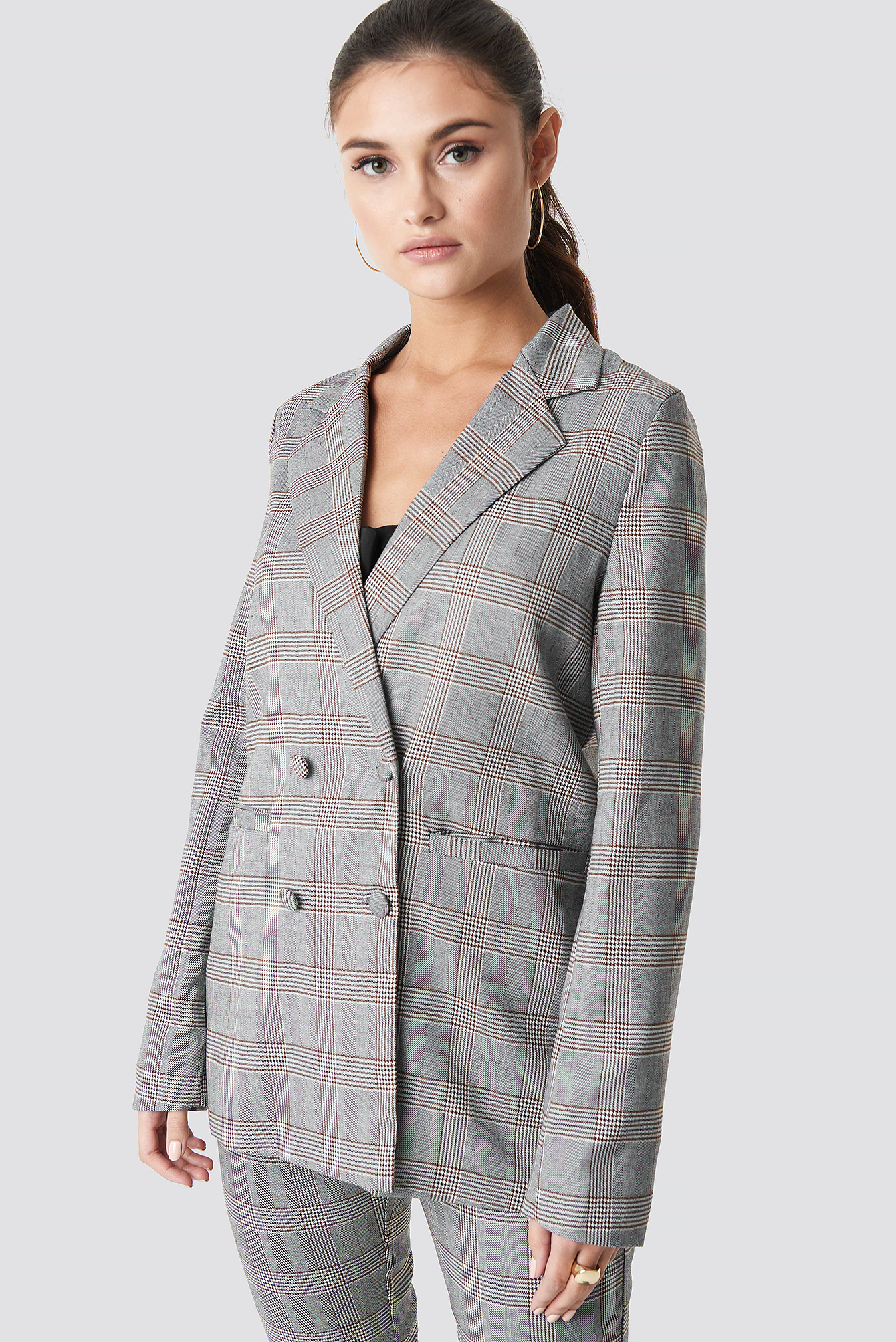 Checked Box Blazer NA-KD.COM