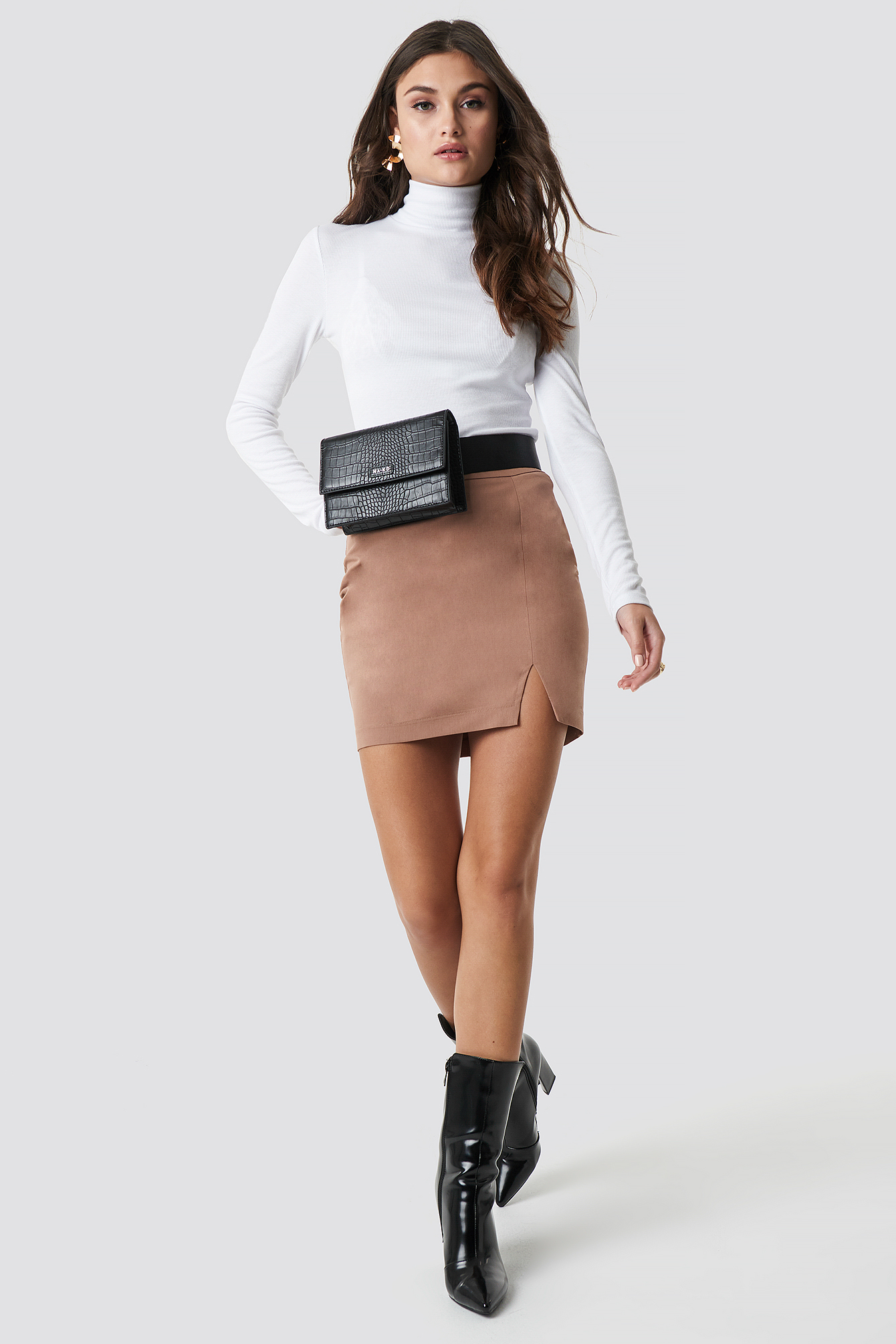 Front Slit Mini Skirt  NA-KD.COM