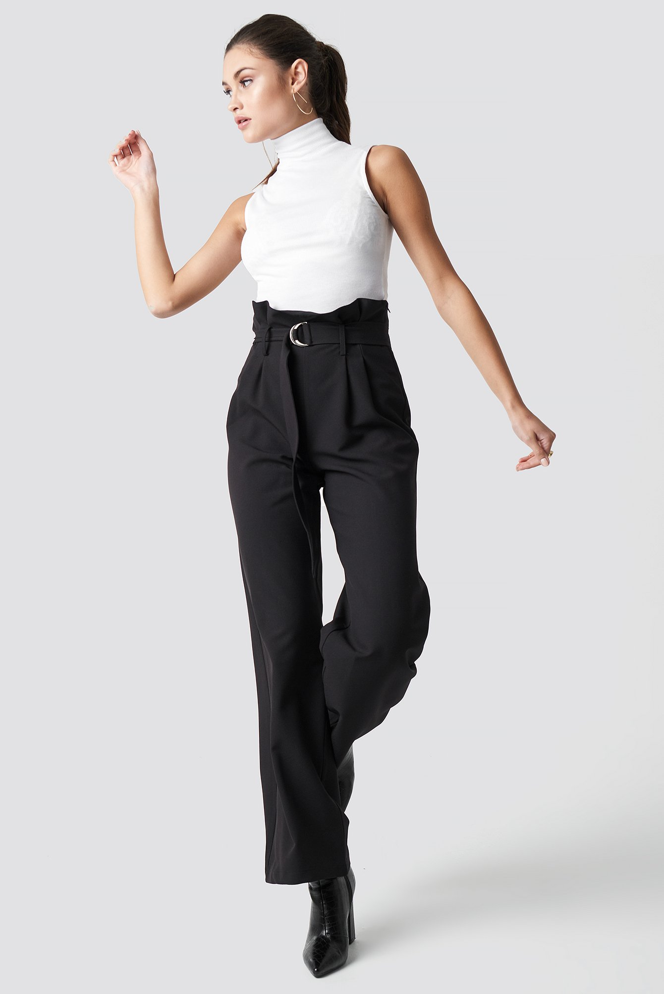 High Waist Wide Leg Pants NA-KD.COM