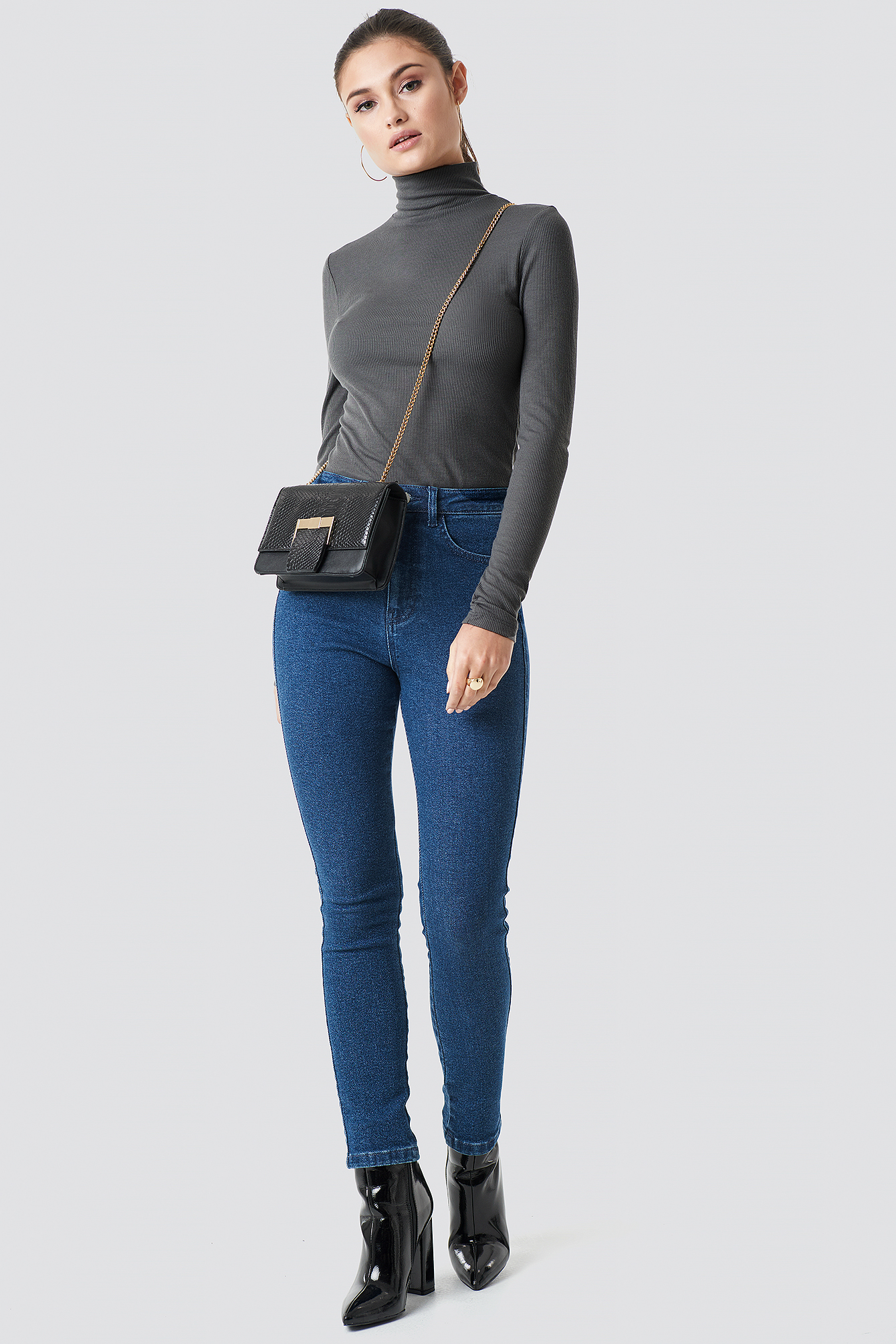 Long Sleeve Polo Top NA-KD.COM