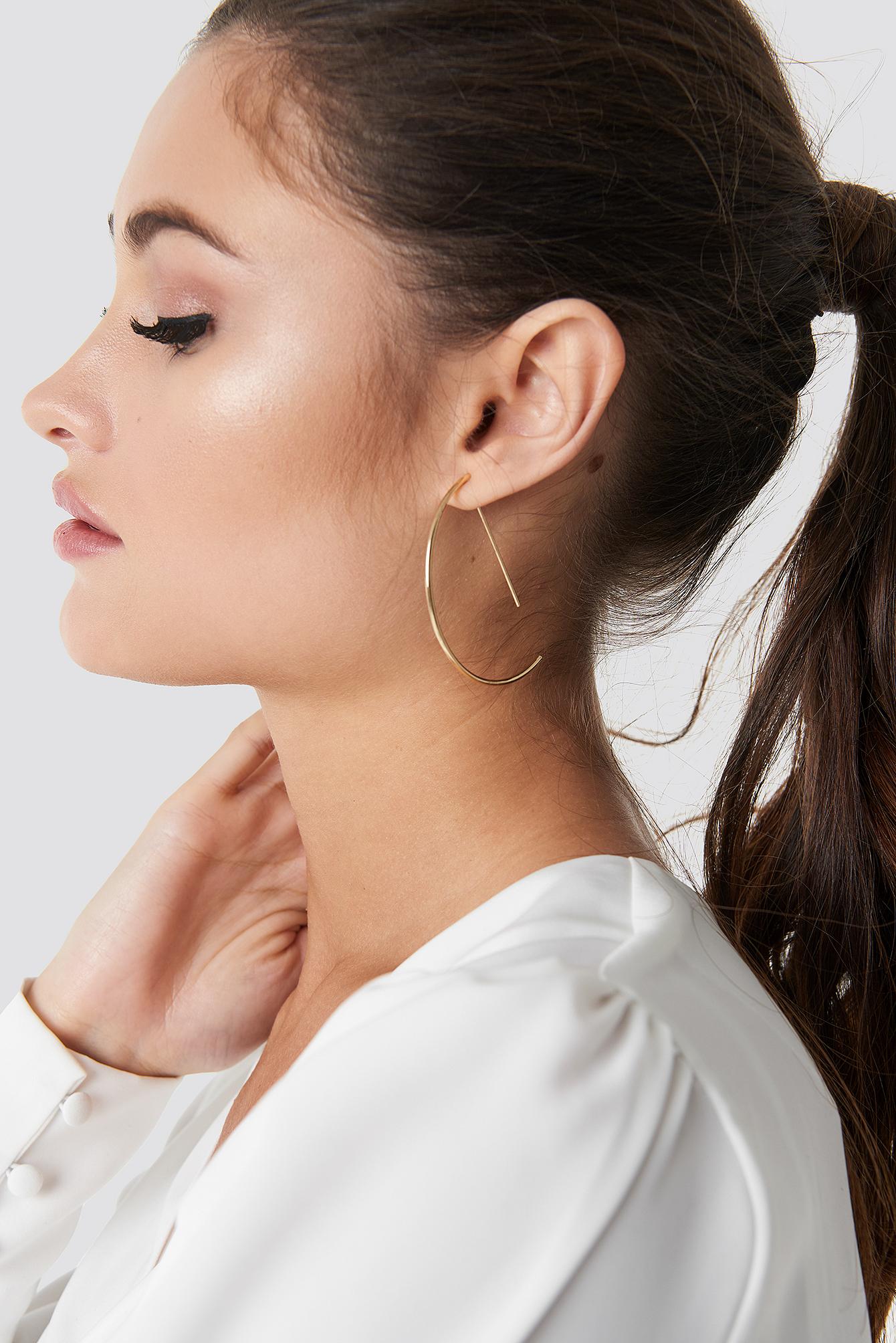 Semi Hoop Earrings NA-KD.COM