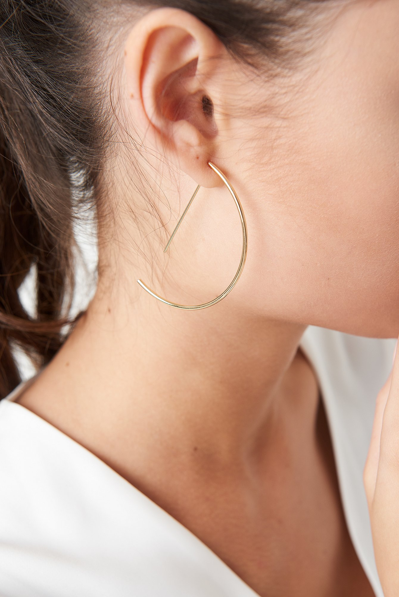 Semi Hoop Earrings NA-KD.COM