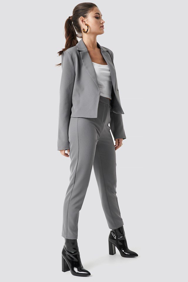 Tailored Slim Suit Pants Julia Wieniawa x NA-KD