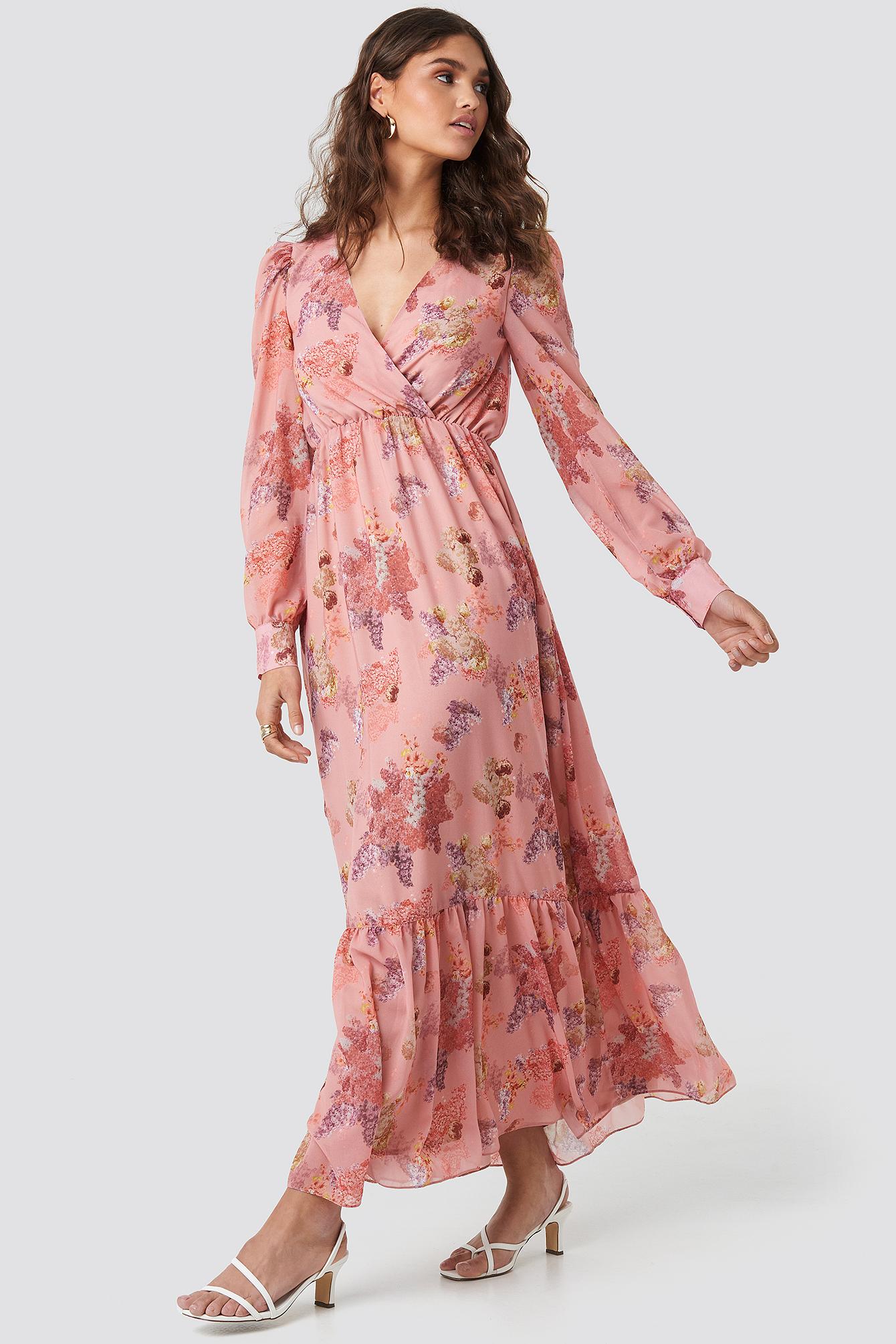 Floral Maxi Dress NA-KD.COM