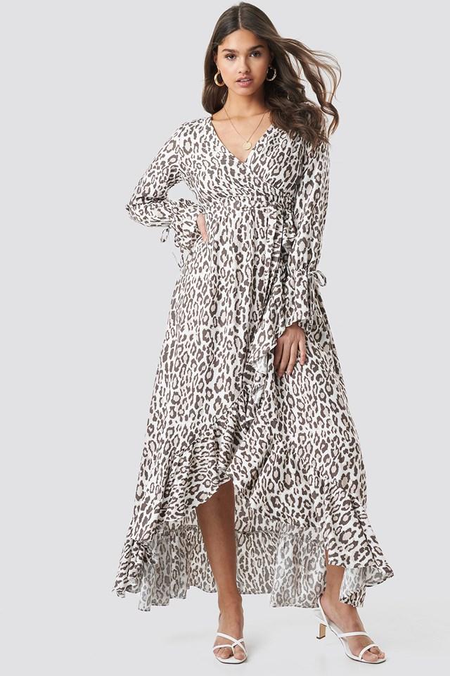 Leopard Maxi Dress Kae Sutherland x NA-KD