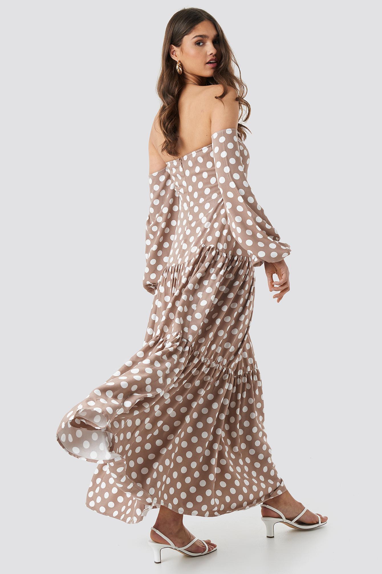 Polka Dot Maxi Dress NA-KD.COM