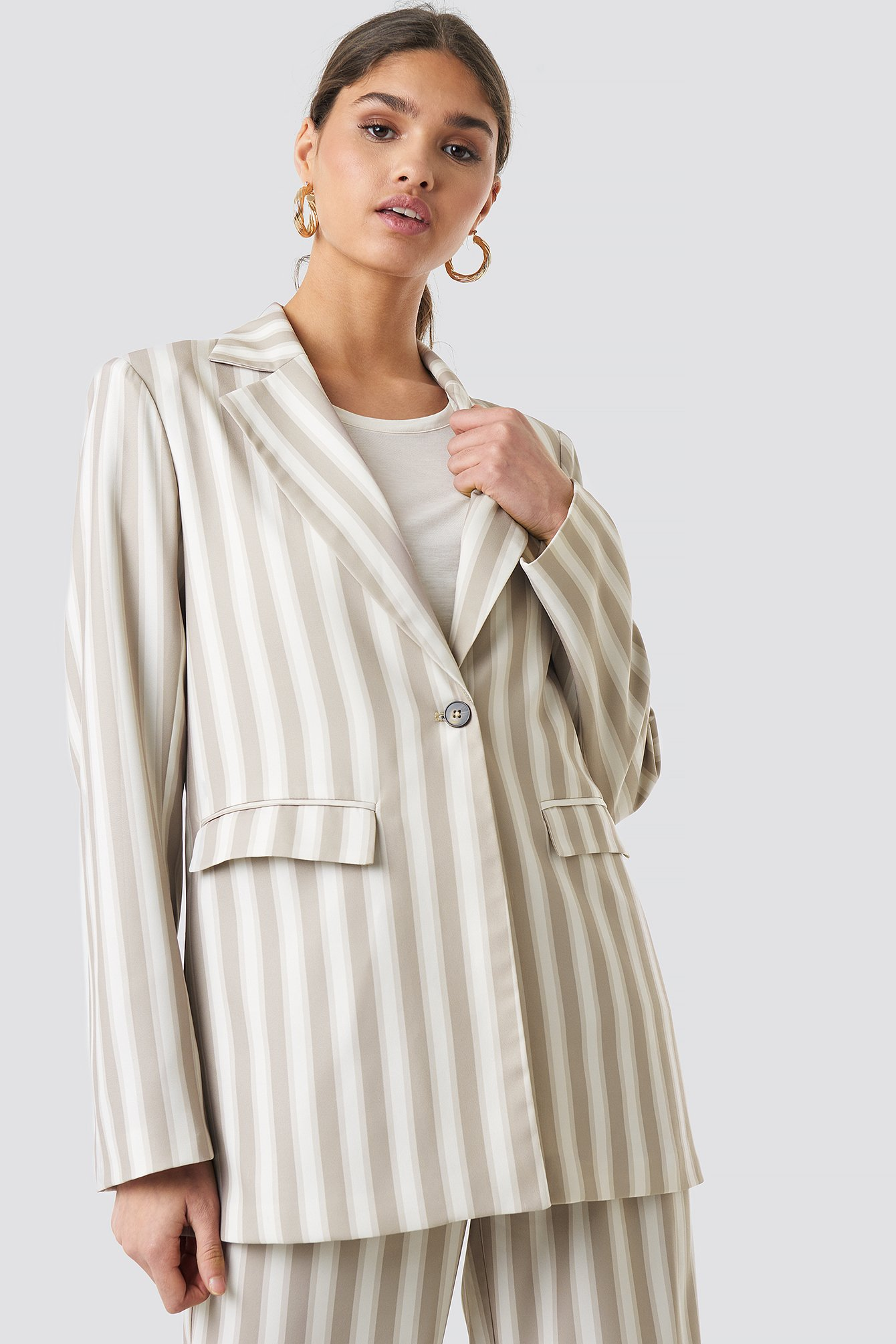 Tailored Striped Jacket NA-KD.COM