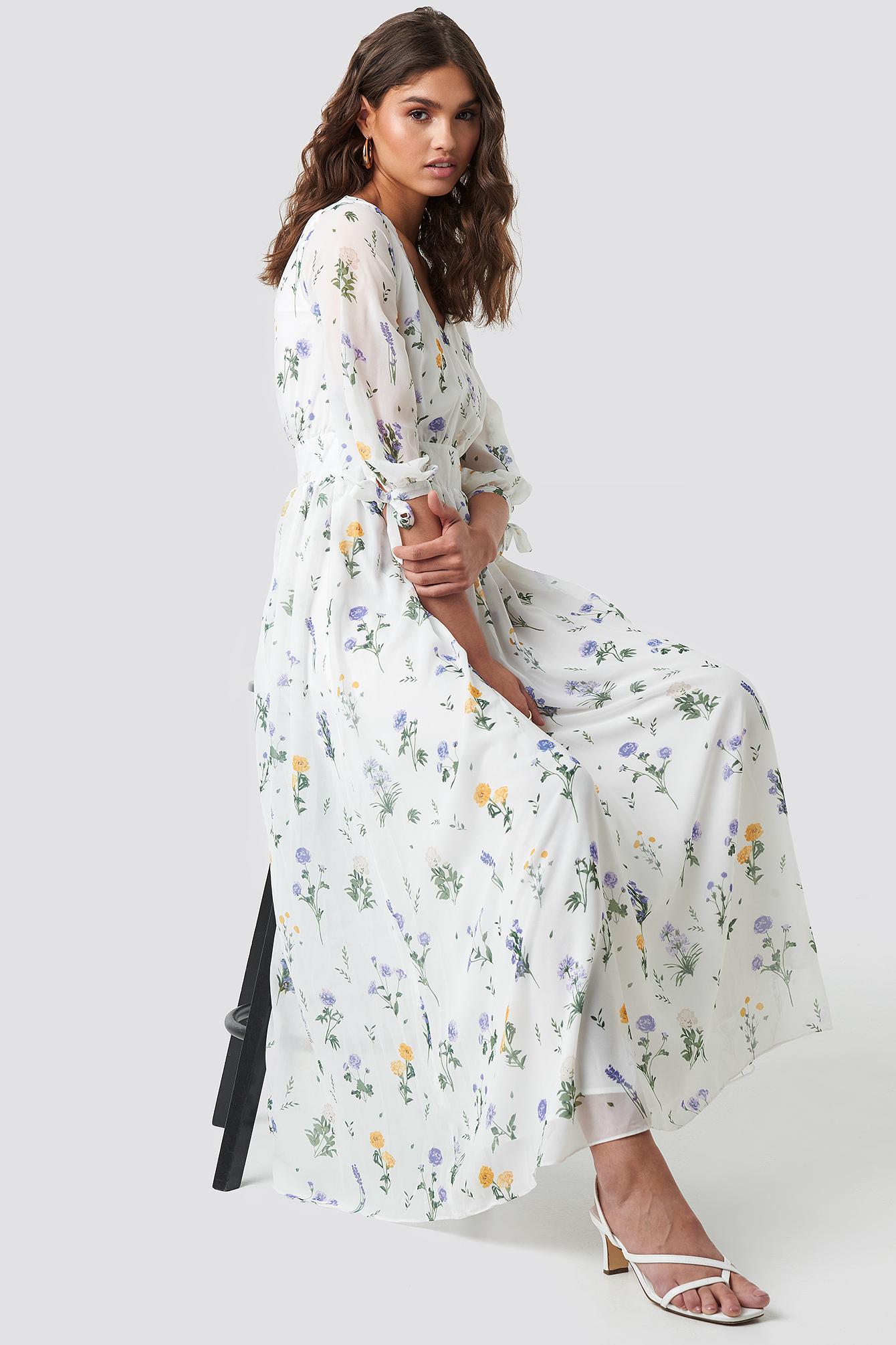 V Neck Maxi Dress NA-KD.COM
