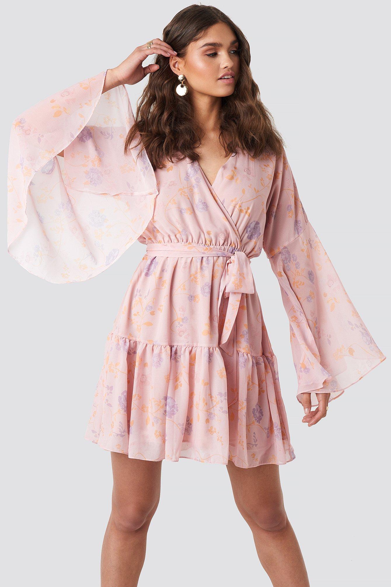 a3ddee09cb5 Wide Sleeve Mini Dress