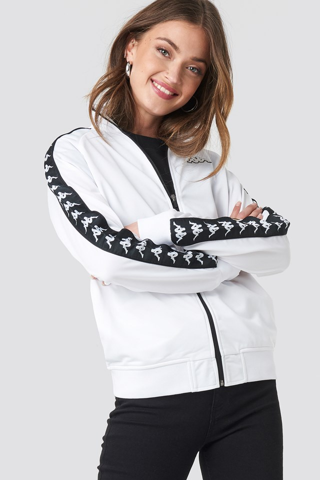 Anniston Track Jacket White/Black