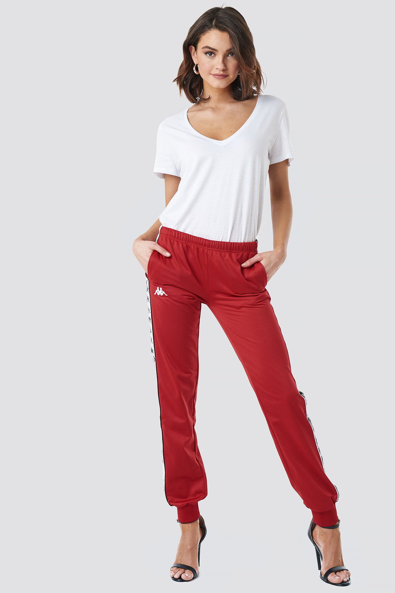 kappa -  Wrastoria Banda Pants - Red