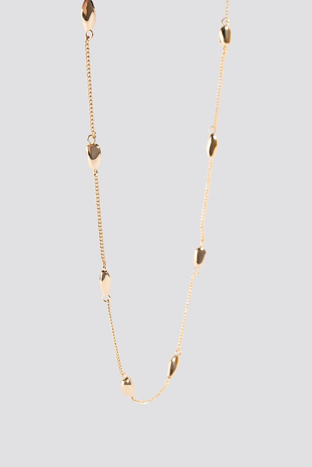 Gold Drop Necklace Gold