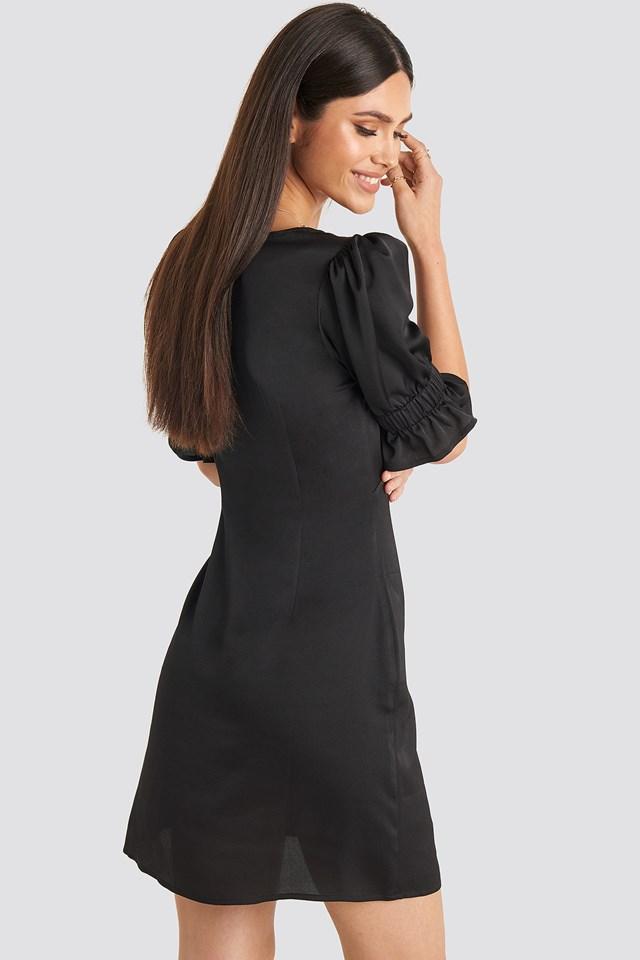 Puff Mini Dress Black