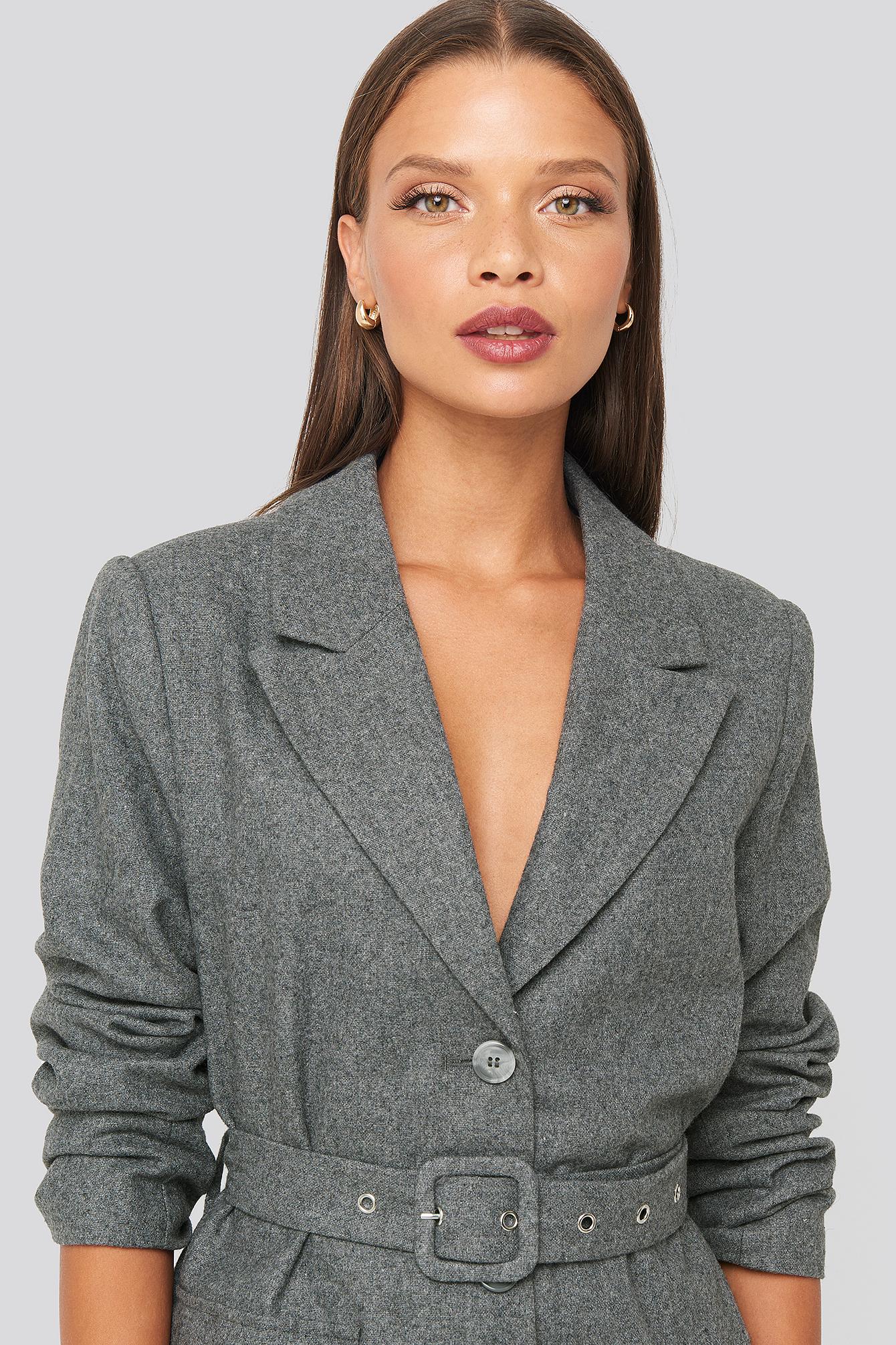 karo kauer x na-kd -  Patch Pocket Blazer - Grey