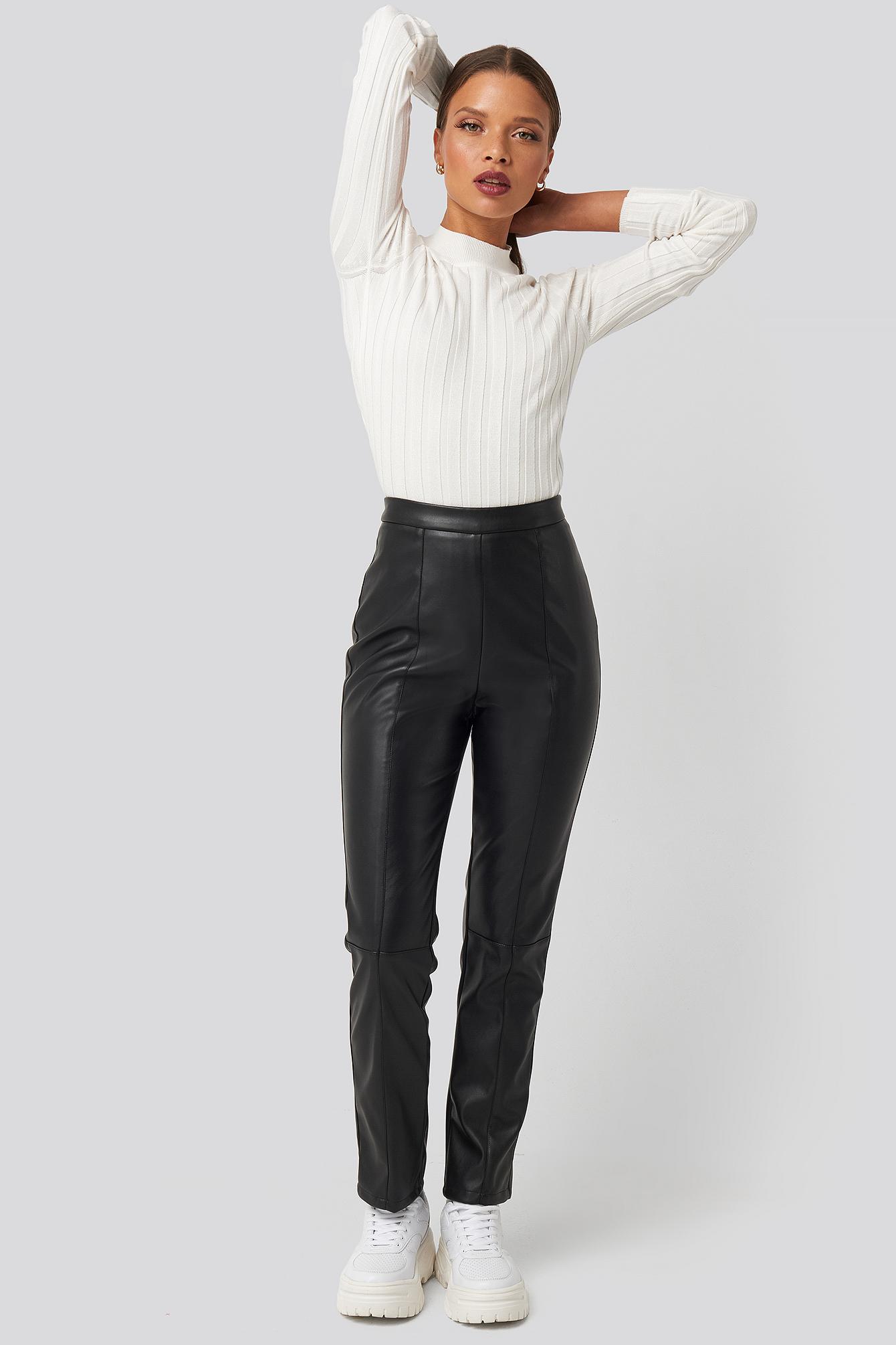 karo kauer x na-kd -  PU Leather Pants - Black