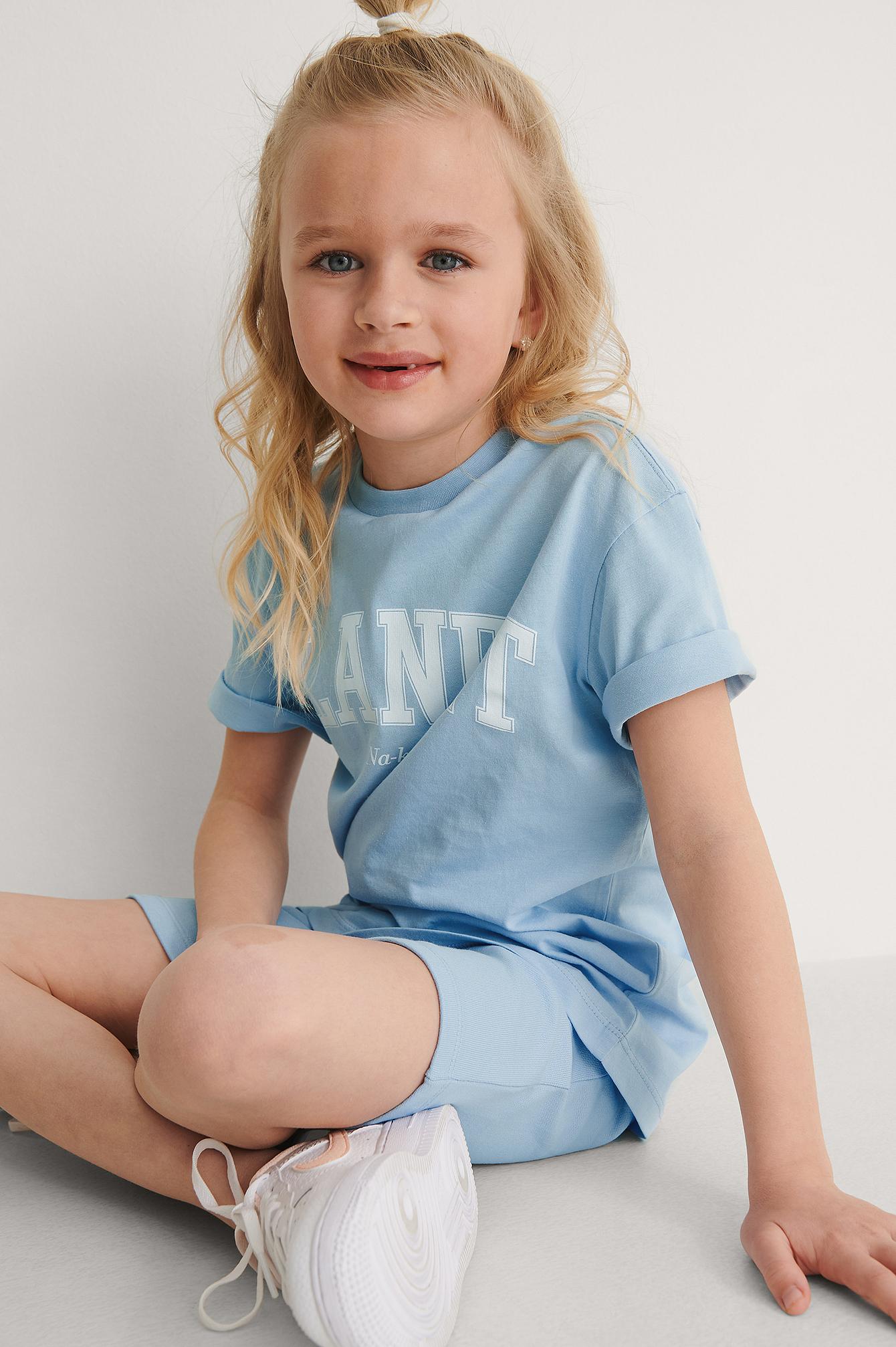 KIDS by NA-KD Orgaaniset Basic-Jerseyshortsit - Blue