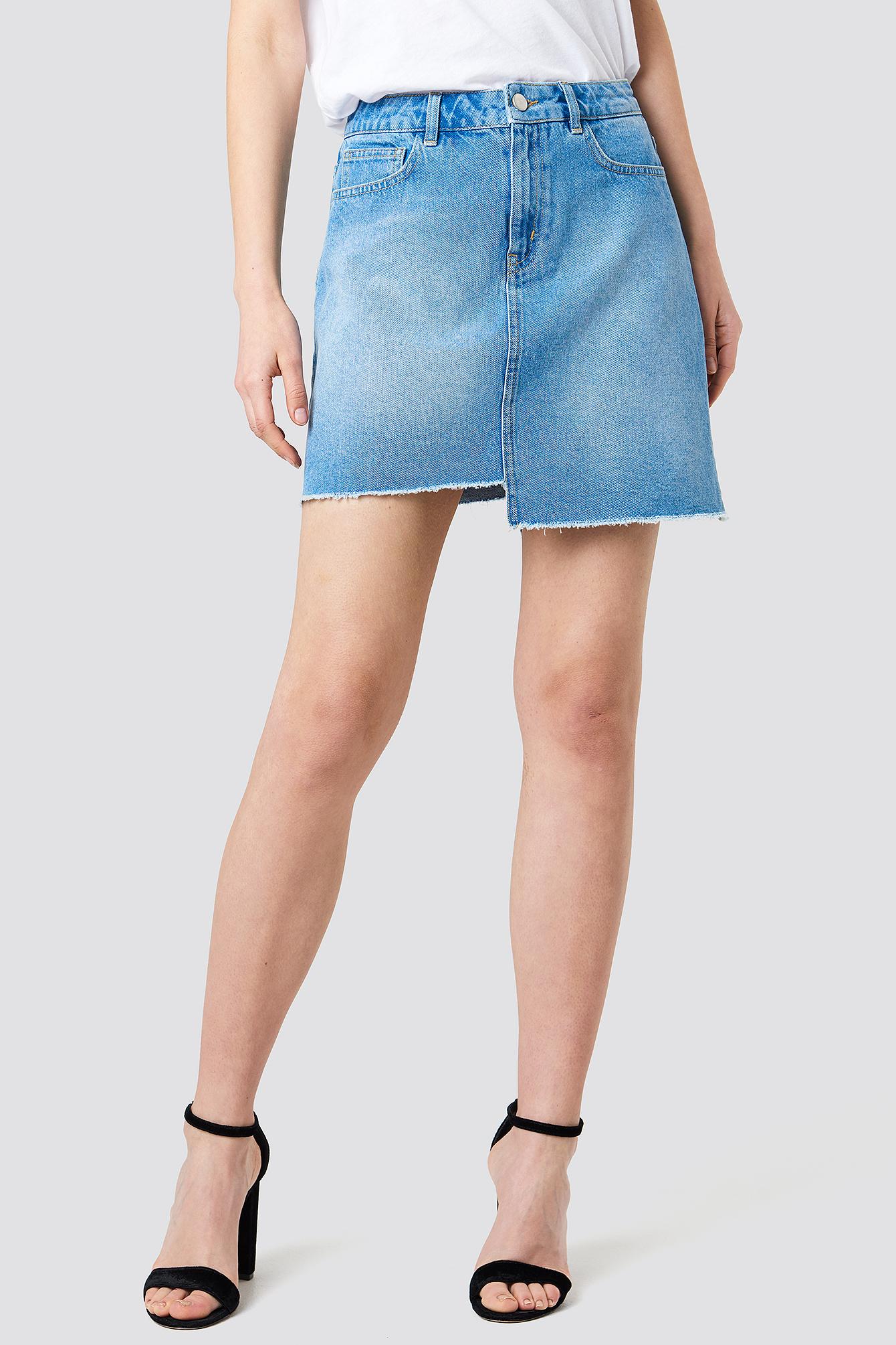 Asymmetric Denim Skirt NA-KD.COM