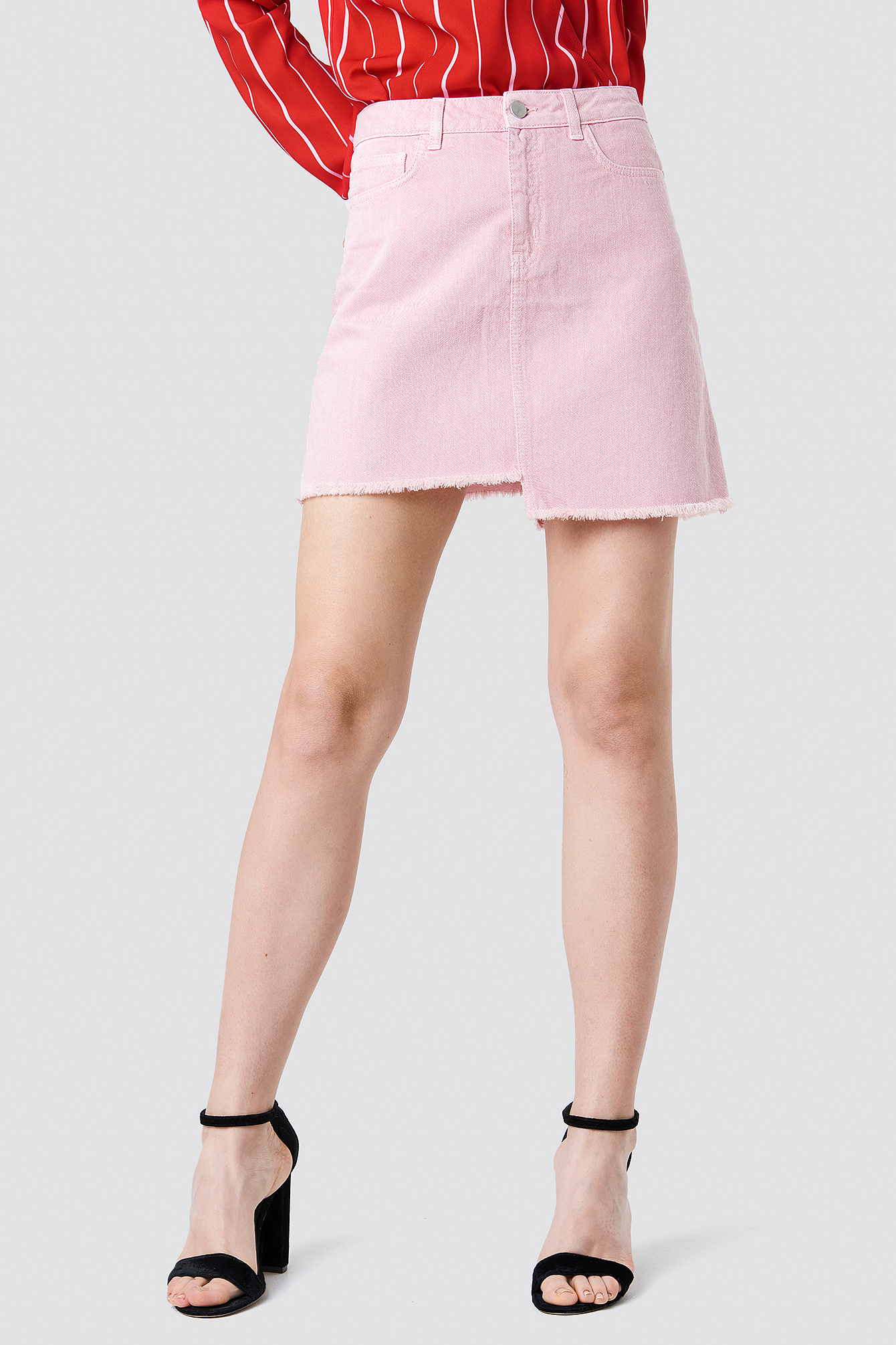 Asymmetric Denim Skirt NA-KD.COM