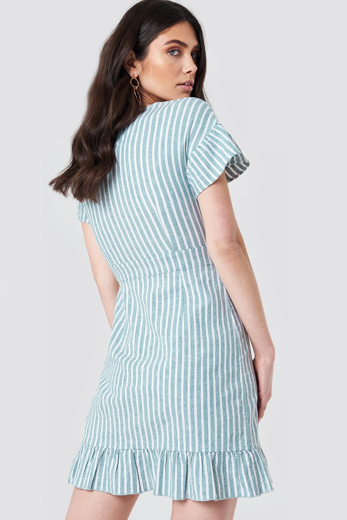 Dropped Shoulder Frill Dress NA-KD.COM