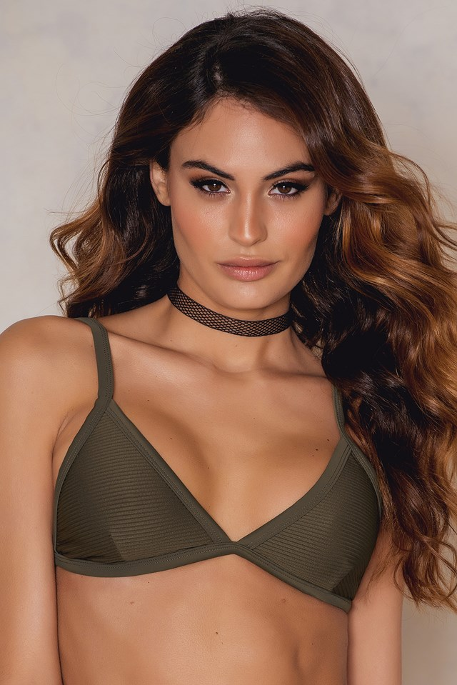KS Structured Bikini Top Khaki