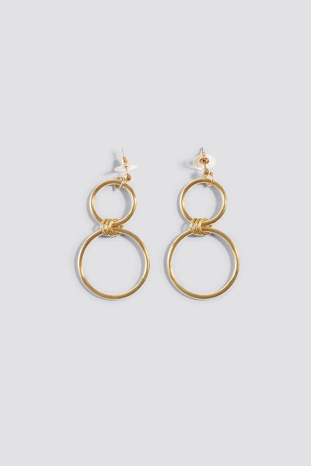 Hanging Double Hoop Earrings Na Kd Com