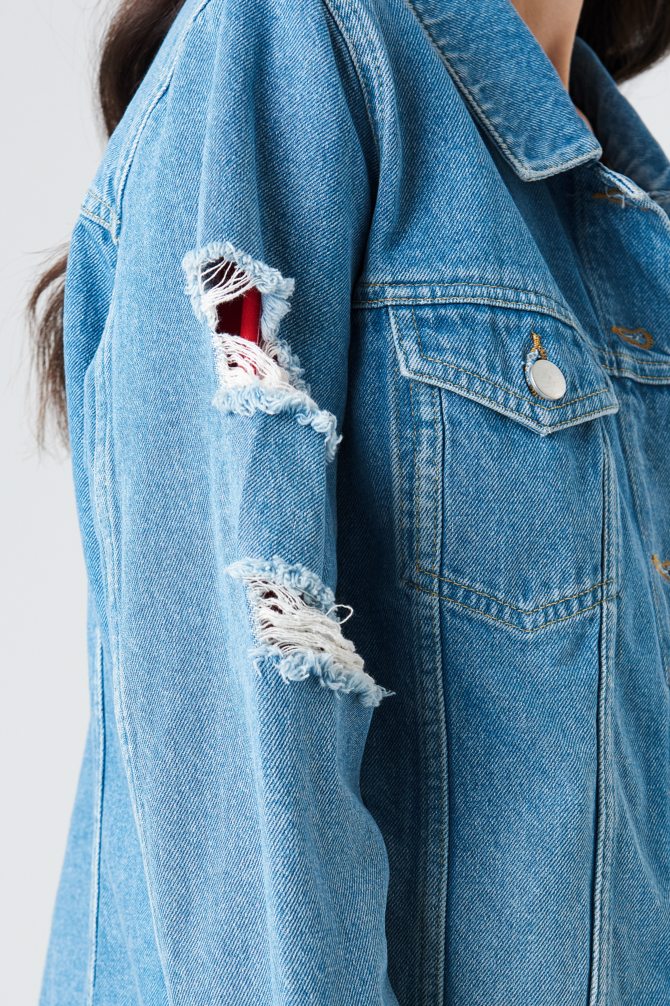 Ripped Sleeve Denim Jacket NA-KD.COM