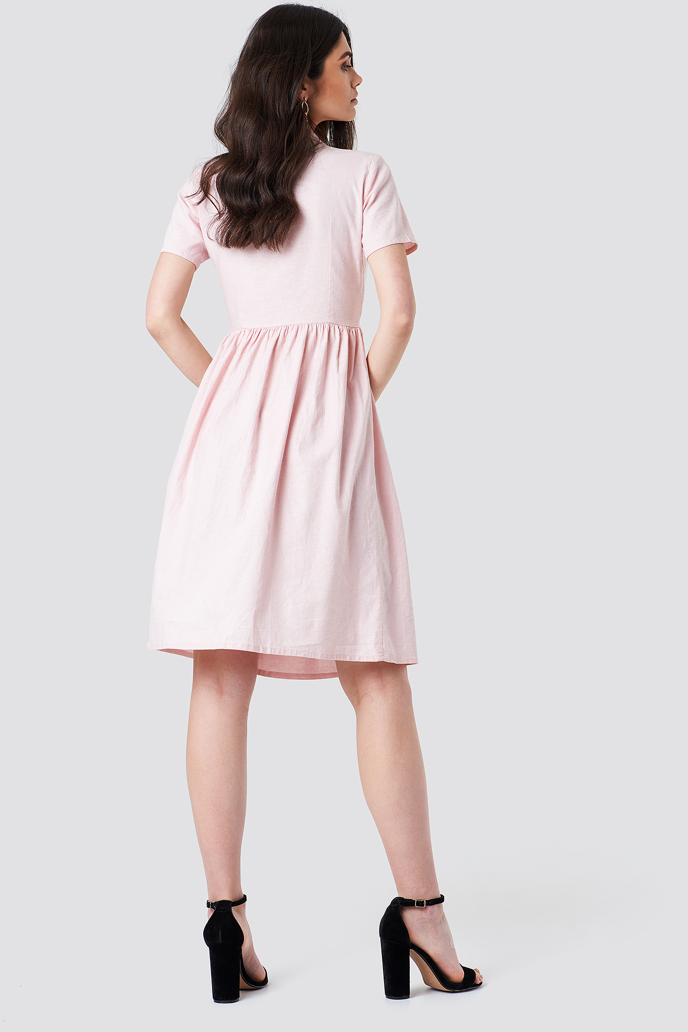 Overlapped Midi Dress NA-KD.COM