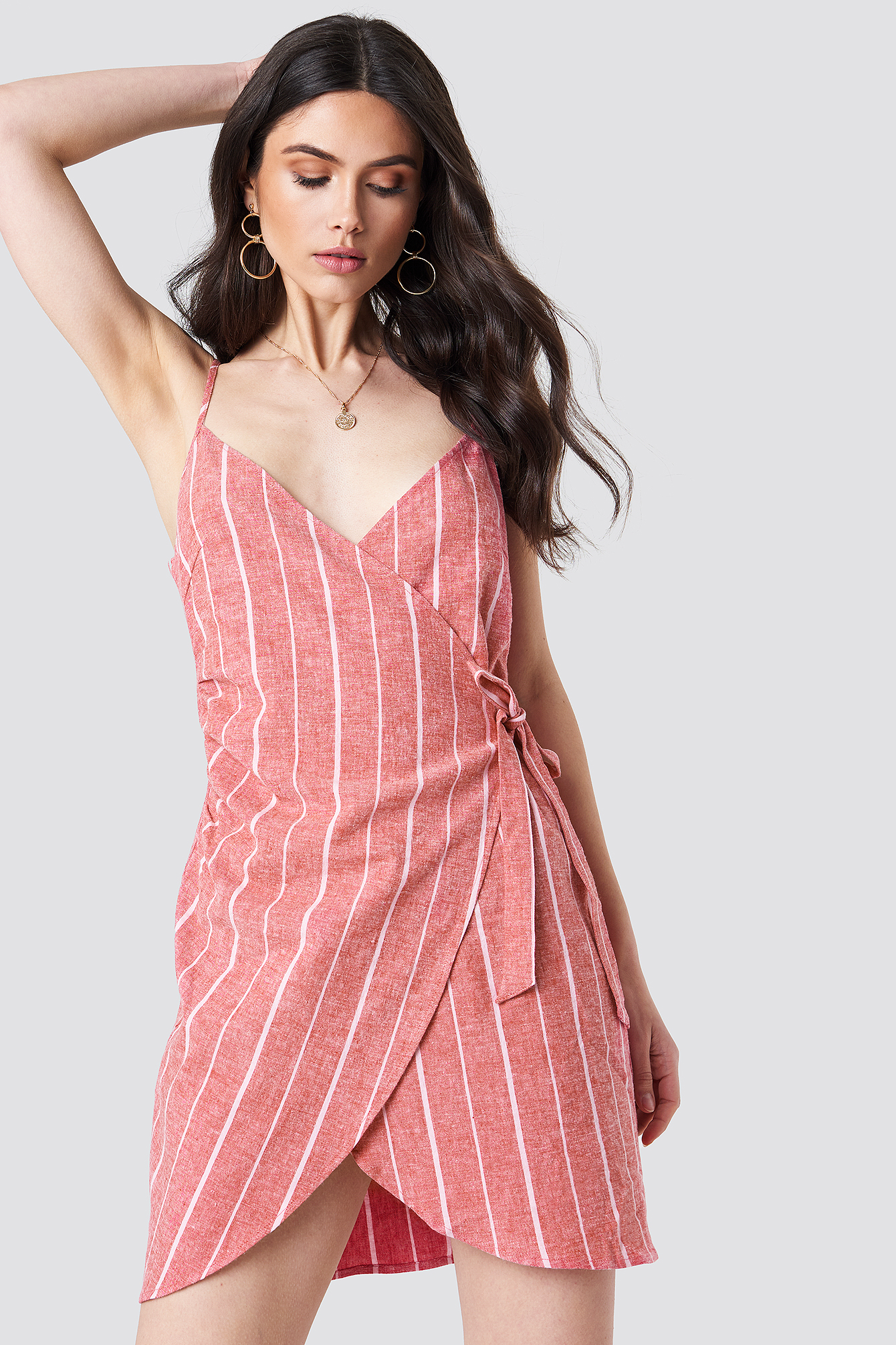 Side Knot Slip Dress NA-KD.COM