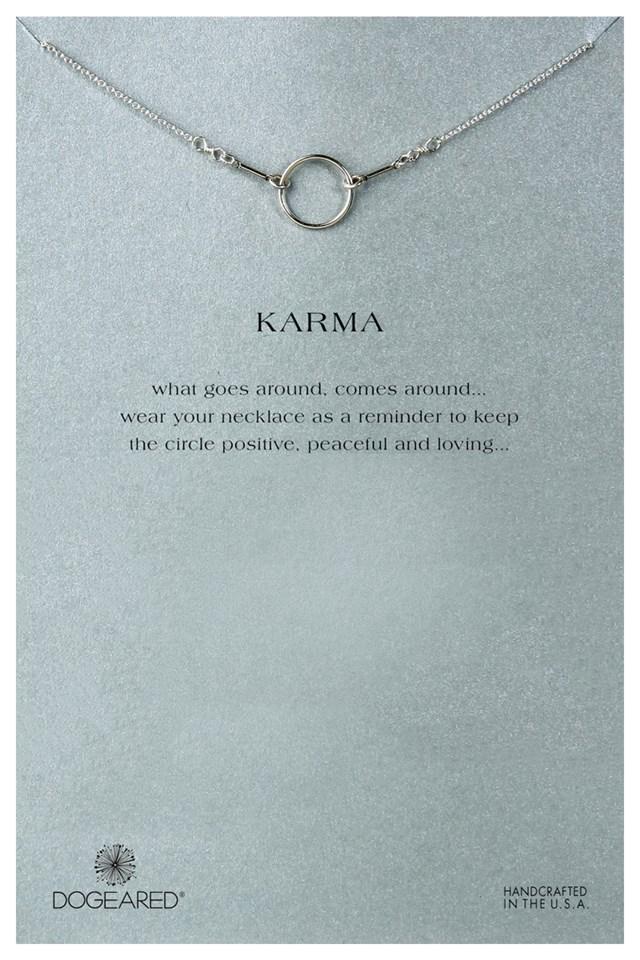Original Karma Necklace Silver