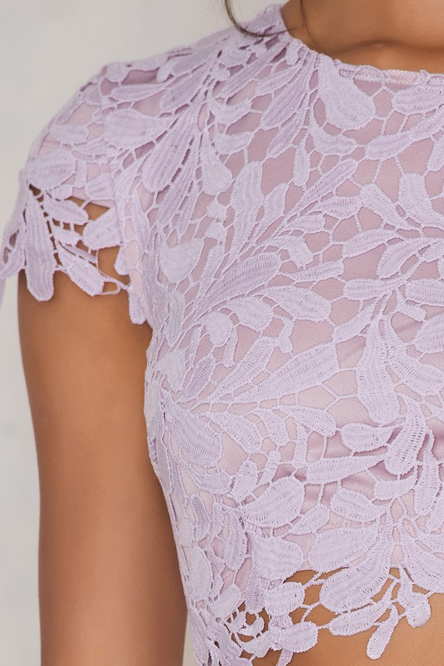 Lace Bailey Bodycon Dress Lavender