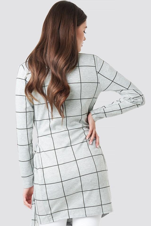 Chack Wrap Blazer Dress Grey