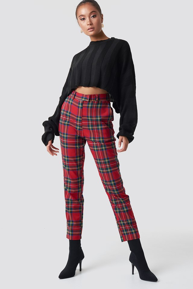 Knitted Flare Sleeve Cropped Jumper NA-KD.COM